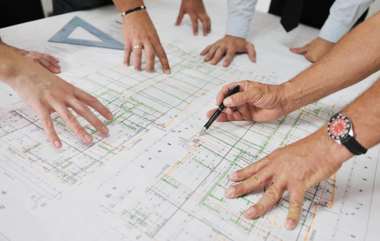 Arkitekter planerar
